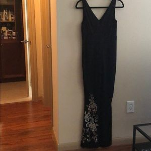 NWT Black Embroidered Jumpsuit (Anthropologie) 0